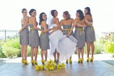 Great view for bridal party photos at Todd Creek Golf Club in Thornton, Colorado.