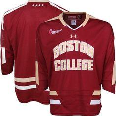 Under Armour Boston College Eagles Tackle Twill Hockey Jersey - Maroon dcdbdddb8