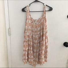Sundress floral print Crepe sundress Forever 21 Dresses Mini