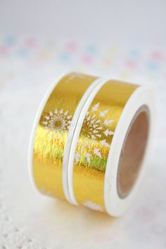 Foil Washi Tape  Gold Washi Tape  Gift Wrapping  by pingosdoceu