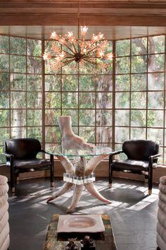 Hillcrest Estate Den #kellywearstler #interiordecor #homedecor #luxuryinteriors #designerfurniture