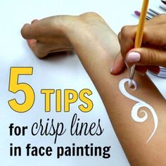 Crisp, accurate lines made easy and fast require lots of practice. But nothing is impossible, especially if you know exactly what to do and how to do it. Continue Reading ➞ #facepaintingbooth #facepaintingbusinesstips
