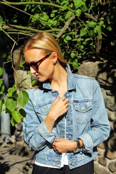 Ullalaa: My favorite summer accessory, jeans jacket by Ralph Lauren Summer Accessories, Ralph Lauren, Photo And Video, My Favorite Things, My Style, Jeans, Jackets, Tops, Women