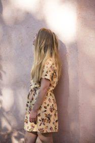 Photos: Aino Huotari Crystal Seeker print is designed in collaboration with Illustrator & Graphic designer Eija Vehviläinen Purple sandals by KUULA + JYLHÄ Purple Sandals, My Design, Kimono Top, Crystals, Collection, Women, Fashion, Moda, Fashion Styles