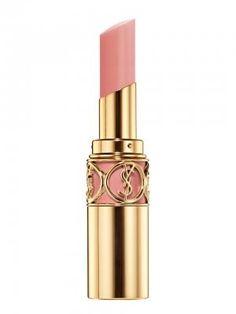 So creamy, so pigmented. / Yves Saint Laurent Rouge Volupte Perle N° 107 Impetuous beige.