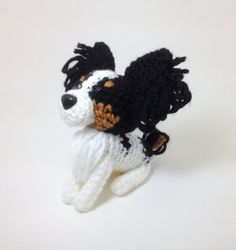 Papillon Crochet Dog Stuffed animal Amigurumi Puppy by Inugurumi