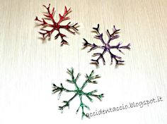 DIY Snow flakes tutorial @ My Little Inspirations: {Christmas Inspirations Blog Hop} #4