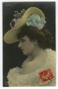 C 1909 Vintage Glamour Glamor Bare Shoulders Babe Tinted Photo Postcard | eBay