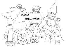 Plagát na Halloween