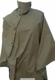 British Khaki Rain Cape #military #rain #cape $50