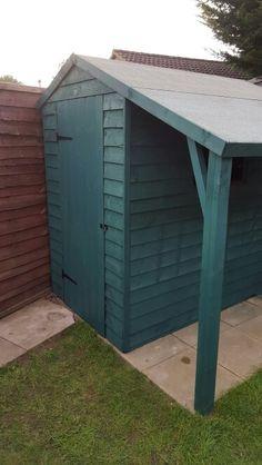 """Sage"" colour shed by Cuprinol shades"