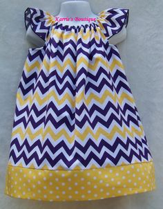LSU Girls Smocked Bubble from Smocked Auctions School