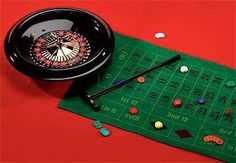 $41.99 Try your luck at this Roulette Wheel Set! This set includes a two-sided felt game layout that with a Roulette game on one side and Black Jack game on the other.