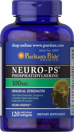 Puritan's Pride Neuro-PS (Phosphatidylserine) 100 mg - 120 Softgels.  Picture: eBay affiliate link.
