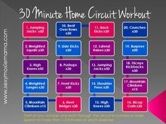 SexyMoxieMama's 30-Minute Home Circuit Workout