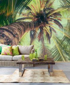 imprimé tropical papier peint 3d effet trompe l'oeil
