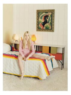 I actually had these sheets as a kid! Elle Fanning for Self Service Magazine