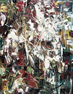 Jean Paul Riopelle Sans Titre, 1948 Oil on Canvas x Expressionist Artists, Abstract Expressionism, Abstract Art, Abstract Paintings, Hard Edge Painting, Painting Collage, Post Painterly Abstraction, Francis Picabia, American Modern
