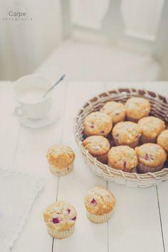 mi dolce paradiso: muffins de fresas y chocolate blanco