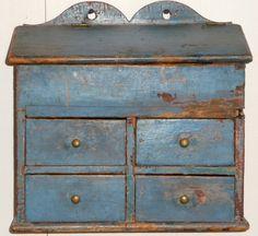Land Möbel - Provincial Home Living Primitive Furniture, Primitive Antiques, Old Furniture, Country Furniture, Country Primitive, Painted Furniture, Primitive Cabinets, Primitive Decor, Antique Boxes