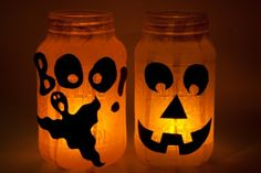 Fall Mason Jar Candle Ideas | Mason Jar pumpkin candles - cute and easy for ... | Fall ideas/craf...