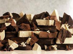 White, Dark and Milk Chocolate Pieces