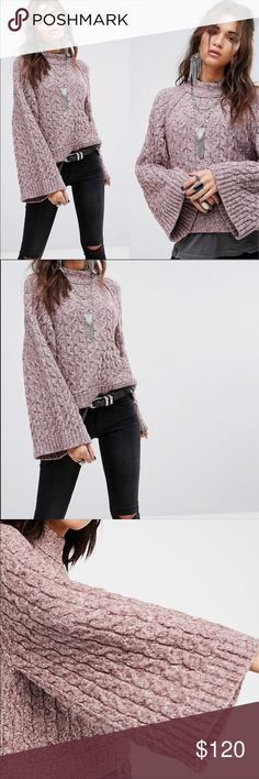 🆕Free People Snow Bird cozy bell sleeve sweater NWT  Free People Snow Bird pullover sweater Size small and medium (one of each available)    Sweetened with a snow bird, this pullover is perfect for keeping cozy, comfortable and super cute. It's designed with contemporary inspiration in mind with a meticulous mock neck, making it a first-class pick for when the temperatures fall.  Pullover Mock neck Long bell sleeves Free People Sweaters Cowl & Turtlenecks