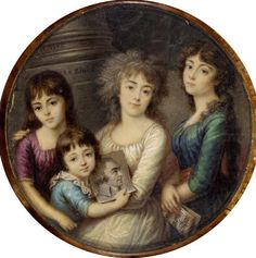 """""""A Family Group"""" by P. Bini (1796) at the Fitzwilliam Museum, Cambridge"""