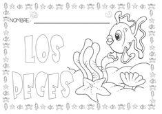 proyecto-los-peces by chuckys272 via Slideshare Bilingual Kindergarten, Ocean Crafts, Water Animals, Animal Activities, Everyday Activities, Girls Selfies, Class Projects, Worksheets For Kids, Ocean Life