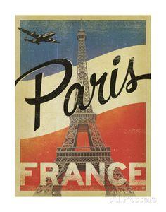Paris, France (Flag) Affiches par Anderson Design Group sur AllPosters.fr