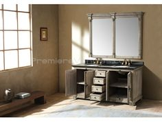 The set includes the mirror. 71 Inch Light Grey Double Sink Vanity Set | Premiere Vanities