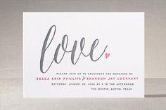 Charming Love Letterpress Wedding Invitations by Melanie Severin at minted.com