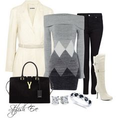Black & white outfits  This post is just for you!! Get inspired by amazing black & white outfit ideas for winter 2013 presented by Stylish Eve.