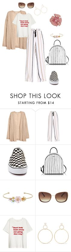 """""""Untitled #5445"""" by ayse-sedetmen ❤ liked on Polyvore featuring Vans, DKNY, LC Lauren Conrad, Lucky Brand, Natasha Schweitzer and Charlotte Tilbury"""
