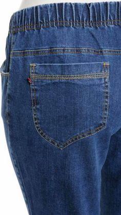 Spodnie z jeansu Cevlar BJB 03 kolor granatowy - Big Sister