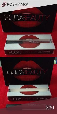 Huda Beauty liquid lipstick color Vixen Huda beauty lipstick  selling for $20  smells like Vanilla or chocolate  No free shipping ❌No trades❌ No low balling❌No Rude or unnecessary Comments❌Price firm Sephora Makeup Lipstick
