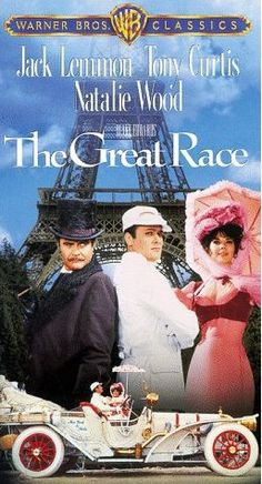 The Great Race Best movie ever! This one is my favorite movie ever! Too bad they don't make more movies like this. I love giving this movie with a Stir Crazy Popcorn Popper to families with kids, for Christmas. Famous Movies, Old Movies, Vintage Movies, Great Movies, Jack Lemmon Movies, The Great Race, Movies Playing, Hooray For Hollywood, Classic Movies