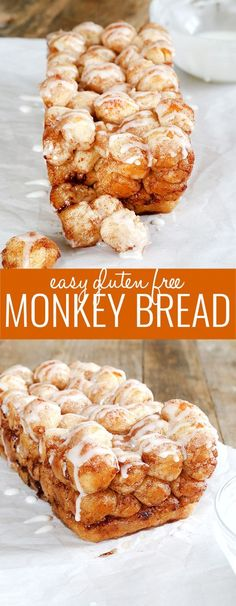 Super easy to make this gluten free monkey bread is perfect for the little hands of little helpers and will make your house smell like amazing cinnamon-goodness! glutenfreeonashoe...