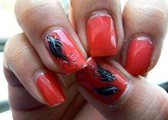 Acrylic Nail Designs Ideas: Acrylic Nail With Orange Color ~ Nail Ideas Inspiration