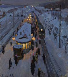 Биткин Евгений Петрович (1932-2017) «Пригородная станция» 1970