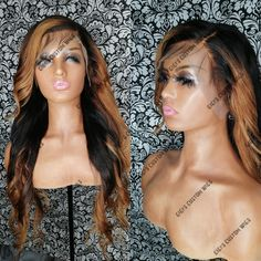 Custom Body wave Handmade wig with ombre.