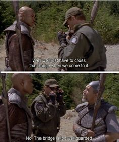 You can't say there wasn't some kind of language barrier on Stargate!