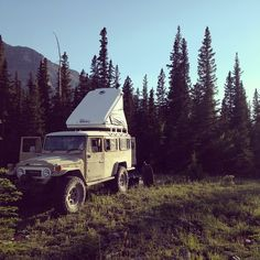 A great week in the wood of Alberta with some cool folks and even cooler rigs. #troopy #landcruiser #hj47 #oilcountrycruiser