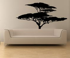 Vinyl Wall African Tree Decal Sticker