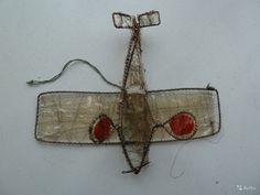 Ёлочная игрушка Самолёт проволока Москабель