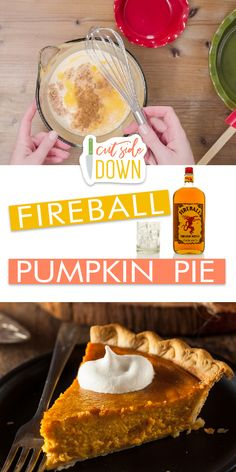 Fireball pumpkin pie is all the rage this fall season. If you are looking for a good fireball pumpkin pie recipe, then you're definitely not going to want to miss out on this! This recipe will make the best pumpkin pie. Best Pumpkin Pie, Pumpkin Recipes, Pie Recipes, Pumpkin Pie Mix, Healthy Pumpkin, Köstliche Desserts, Delicious Desserts, Dessert Recipes, Punkin Pie Recipe