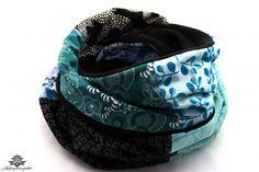 Winter Schal Damen schwarz blau petrol aus der Lieblingsmanufaktur - Unikate, die Spaß machen :)