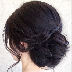 simple chignon  ~  we ❤ this! moncheribridals.com #weddingupdo