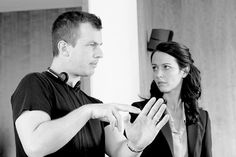 #tbt Jonathan Nolan directing Amy Acker during episode 2x16 of #PersonOfInterest