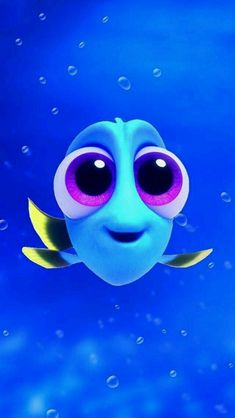 """So cute baby Dory from """"Finding Dory"""" Disney Phone Wallpaper, Wallpaper Iphone Cute, Trendy Wallpaper, Wallpaper Ideas, Hd Wallpaper, Wallpaper Samsung, Disney Art, Disney Movies, Baby Disney Characters"""